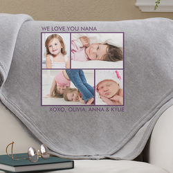 Personalized Four Photo Collage Blanket
