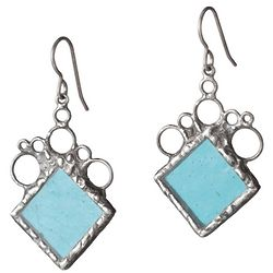 Stained Glass Rhombus Earrings