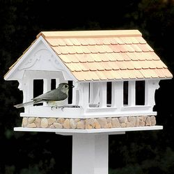 Large Country Covered Bridge Bird Feeder