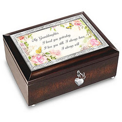 Granddaughter, I Will Always Love You Personalized Music Box