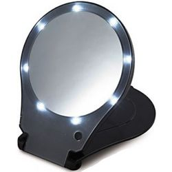 Lighted Hands-Free Travel Mirror