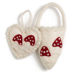 Felted Wool Heart Wall Hanging for Girl's Room
