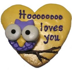 Owl Love Hand-Decorated Cookie