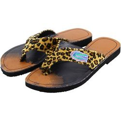 Florida Gators Women's Cheetah Strap Flip Flops