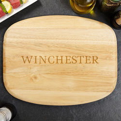Personalized Family Name Wood Cutting Board