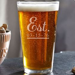 Well Established Personalized Pint Glass
