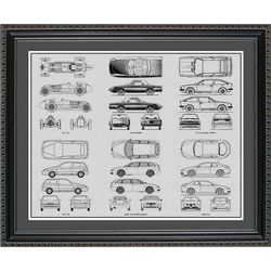 Alfa Romeo Blueprint Collection Art Print