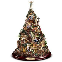 Thomas Kinkade Faith Mountain Illuminated Sculpture