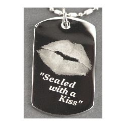 Kiss Charm Necklace or Keychain