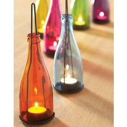 Garden Bottle Lantern Set