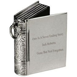 Never Ending Story Engraved Remembrance Pendant