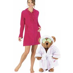 "15"" Spa Ma Teddy Bear and Cotton Terry Hoodie Gift Set"