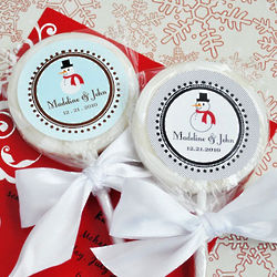 Personalized Holiday Lollipops