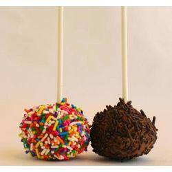 One Dozen Sprinkle Brownie Lollipops