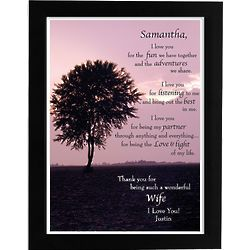 Personalized Framed I Love You Wife Print