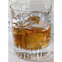 Crystal Palm Double Old Fashioned Drinking Glasses