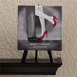 Personalized Head Over Heels Table Top Art