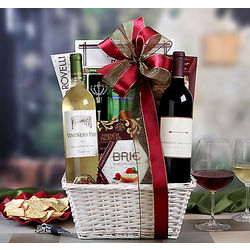 Red Wine and Sauvignon Blanc Gift Basket