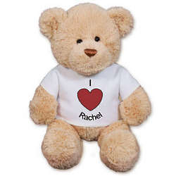 "Personalized I Heart You 12"" Teddy Bear"