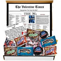 The Valentime Times Remember the Year We Met 1970s Gift Box