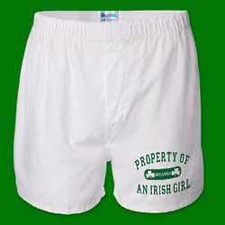 Property of an Irish Girl Men's Personalized Boxer Shorts