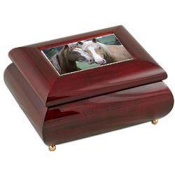 Horses Music Box with Glossy Finish