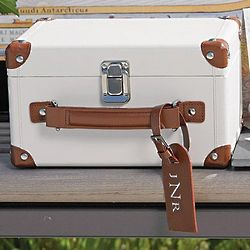 Mini Bridal Suitcase Wishing Well