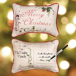 Write On Christmas Gift Pillow