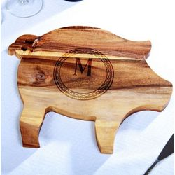 Acacia Pig Celtic Circle Cheese Board