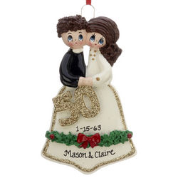 Personalized 50th Wedding Anniversary Christmas Ornament