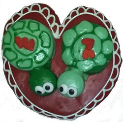 Turtle Love Hand-Decorated Cookie