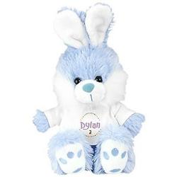 Personalized Blue Easter Bunny Stuffed Animal