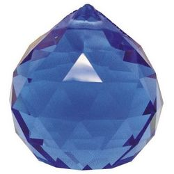 Hanging Multi-Faceted Blue Crystal Ball