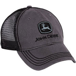 Charcoal John Deere Cloth Mesh Cap