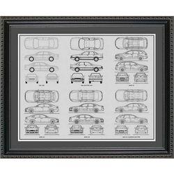 Audi Blueprint Collection Art Print