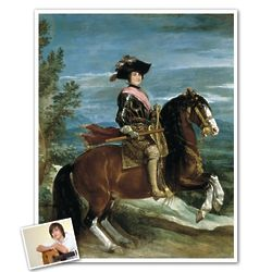 Classic Painting Philip IV on Horseback Personalized Art Print