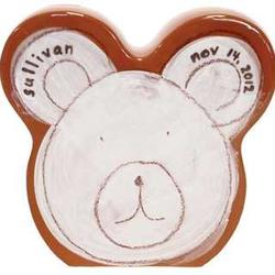 White Bear Personalized Coin Bank