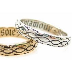 Sterling 'Of My Love Be Sure' French Poesy Ring
