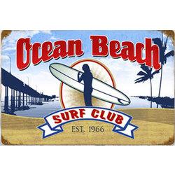 Ocean Beach Surf Club Metal Sign
