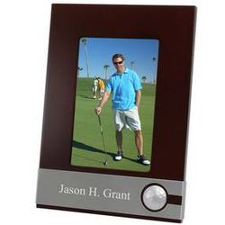 Golfers Wooden Picture Frame