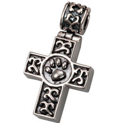 Pet Remembrance Cross with Secret Chamber