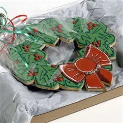 Big Christmas Wreath Cookie