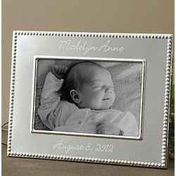 Personalized Silver Baby Picture Frame