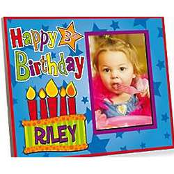 Personalized Kid's Birthday Cake Picture Frame