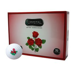 Personalized Rose Logo Crystal Golf Balls