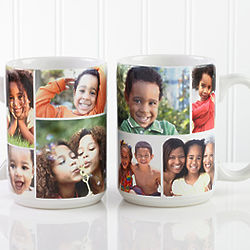 Large Personalized Color Photo Collage Coffee Mug