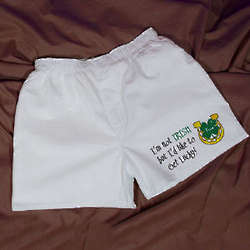 Men's Personalized Get Lucky Irish Boxer Shorts