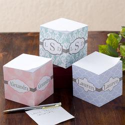 Trendy Signature Personalized Ladies Notepad Cube