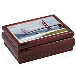 San Francisco's Golden Gate Bridge Musical Jewelry Box