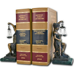 Bronze Lady Justice Bookends